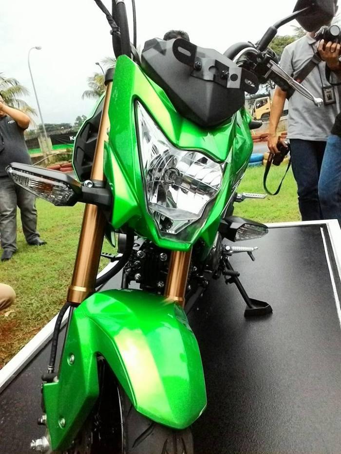 kawasaki z125 pro hijau