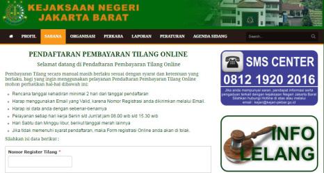 tilang online